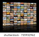 a variety of images of african... | Shutterstock . vector #735932962