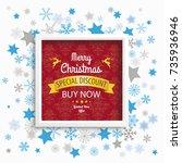 christmas stars with white...   Shutterstock .eps vector #735936946