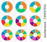 wheel infographics template.... | Shutterstock . vector #735937552