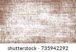 paint brown spray. brown sketch ... | Shutterstock .eps vector #735942292