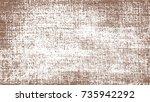 paint brown spray. brown sketch ... | Shutterstock .eps vector #735942292