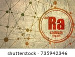 radium chemical element. sign... | Shutterstock . vector #735942346