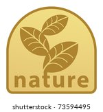 nature label  vector... | Shutterstock .eps vector #73594495