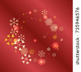 round christmas background with ...   Shutterstock .eps vector #735946576