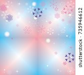 christmas background with...   Shutterstock .eps vector #735946612