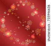 round frame or border christmas ...   Shutterstock .eps vector #735946636