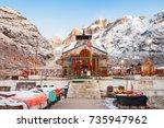kedarnath temple is a hindu...   Shutterstock . vector #735947962