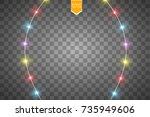 christmas lights isolated on...   Shutterstock .eps vector #735949606