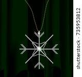 darkness green drape and jewel...   Shutterstock .eps vector #735953812