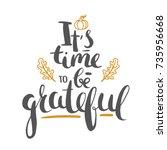 thanksgiving lettering isolated ... | Shutterstock .eps vector #735956668