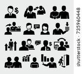 sales business people vector... | Shutterstock .eps vector #735960448