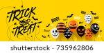 halloween banner with halloween ... | Shutterstock .eps vector #735962806