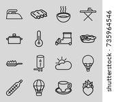 hot icons set. set of 16 hot... | Shutterstock .eps vector #735964546