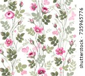 seamless floral pattern with ...