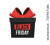 black friday sale  gift box... | Shutterstock .eps vector #735967186