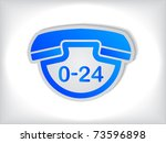 blue phone sticker