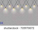 glowing lights for holidays....   Shutterstock .eps vector #735970072