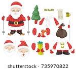 vector illustration santa claus ...   Shutterstock .eps vector #735970822