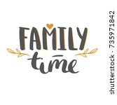 family time   hand drawn vector ... | Shutterstock .eps vector #735971842
