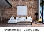 the 3d rendering interior... | Shutterstock . vector #735976582