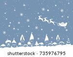 merry christmas and happy new... | Shutterstock .eps vector #735976795
