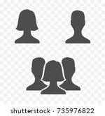 set of people stylized torso ... | Shutterstock .eps vector #735976822