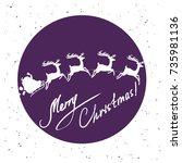 vector illustration with santa...   Shutterstock .eps vector #735981136