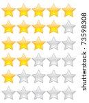 rating stars | Shutterstock .eps vector #73598308