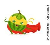 cartoon character of superhero... | Shutterstock .eps vector #735998815