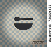 soup icon  vector design element | Shutterstock .eps vector #736006636