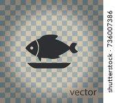 fish dish  vector icon | Shutterstock .eps vector #736007386