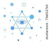 star of david with eye. | Shutterstock .eps vector #736012762