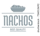 nachos logo. simple... | Shutterstock .eps vector #736013692