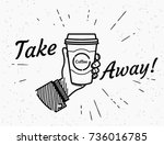 Take Away Retro Illustration O...