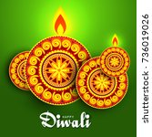 illustration greeting card... | Shutterstock .eps vector #736019026