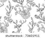 hand drawn floral wallpaper... | Shutterstock .eps vector #73601911