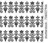 greek floral seamless vector... | Shutterstock .eps vector #736027966