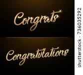 congrats  congratulations.... | Shutterstock .eps vector #736035292