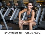 nice commercial portrait of fit ... | Shutterstock . vector #736037692