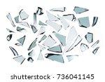 broken glass on white... | Shutterstock . vector #736041145