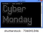 cyber monday banner or poster... | Shutterstock .eps vector #736041346
