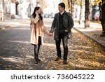 couple in love autumn | Shutterstock . vector #736045222