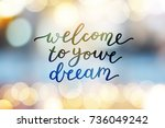 welcome to your dream  vector... | Shutterstock .eps vector #736049242