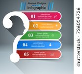 business infographics. question ... | Shutterstock .eps vector #736054726