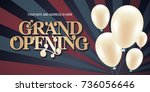 grand opening vector... | Shutterstock .eps vector #736056646