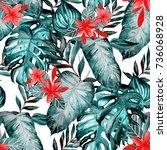 watercolor seamless pattern... | Shutterstock . vector #736068928