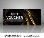 gift voucher template. | Shutterstock .eps vector #736069618