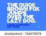 bold style modern font  a z... | Shutterstock .eps vector #736075078