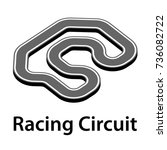 3d racing circuit vector | Shutterstock .eps vector #736082722