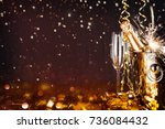 sparkling new year background.... | Shutterstock . vector #736084432